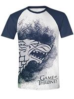 Tričko Game of Thrones: Painted Stark Raglan (veľ. S)