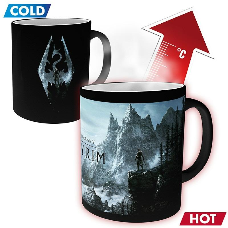 Hrnček Skyrim - Dragon Symbol (meniaci sa)