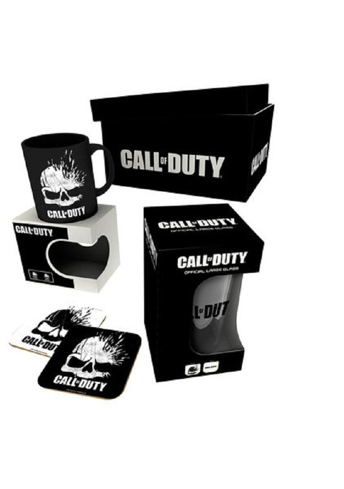 Darčekový set Call of Duty: Black Ops 4 - hrnček, pohár, podtácky