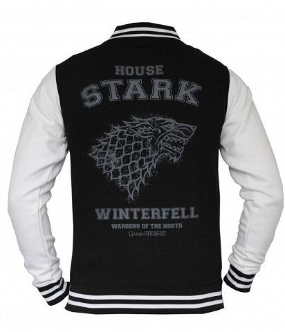 Bunda Game of Thrones - Stark College Jacket (veľkosť XL)