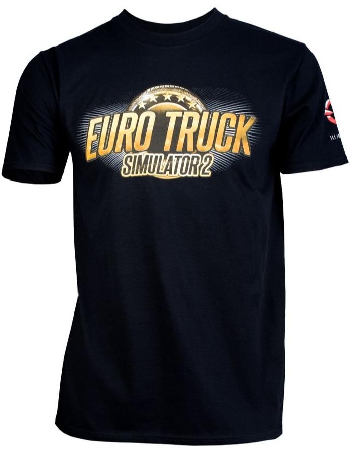 Tričko Euro Truck Simulator - Čierne s logom (veľkosť XXXL)