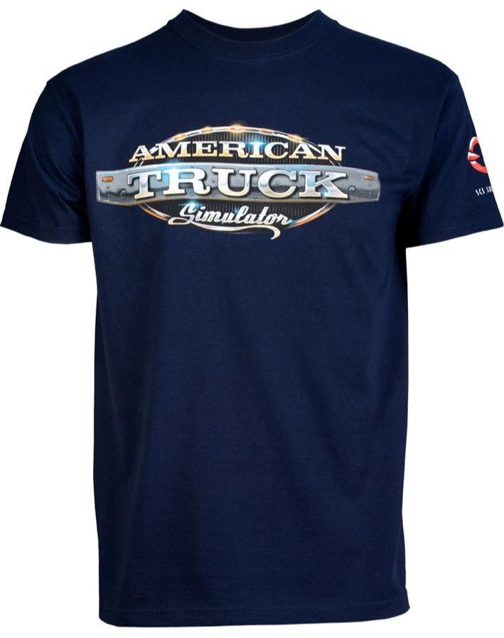Tričko American Truck Simulator - Modre s logom (veľkosť S)