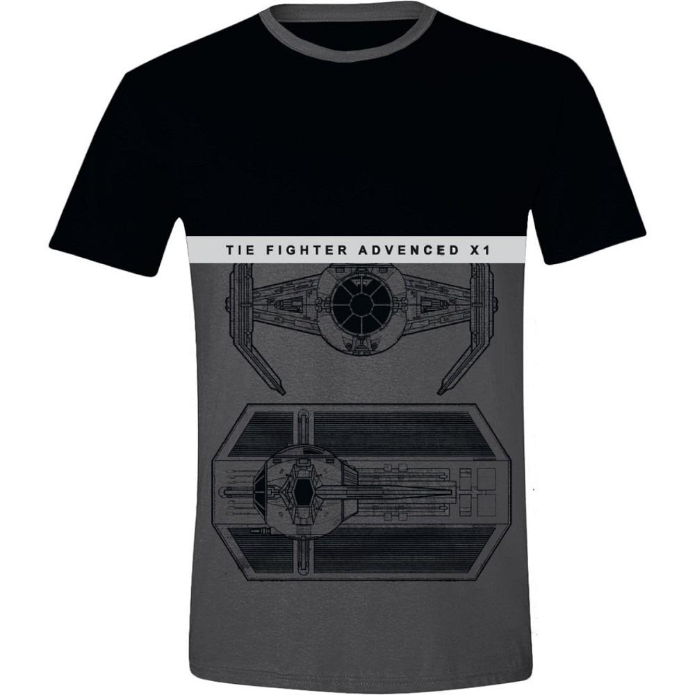 Tričko Star Wars - Tie Fighter (veľkosť XL)