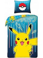 Obliečky Pokémon - Pikachu modré