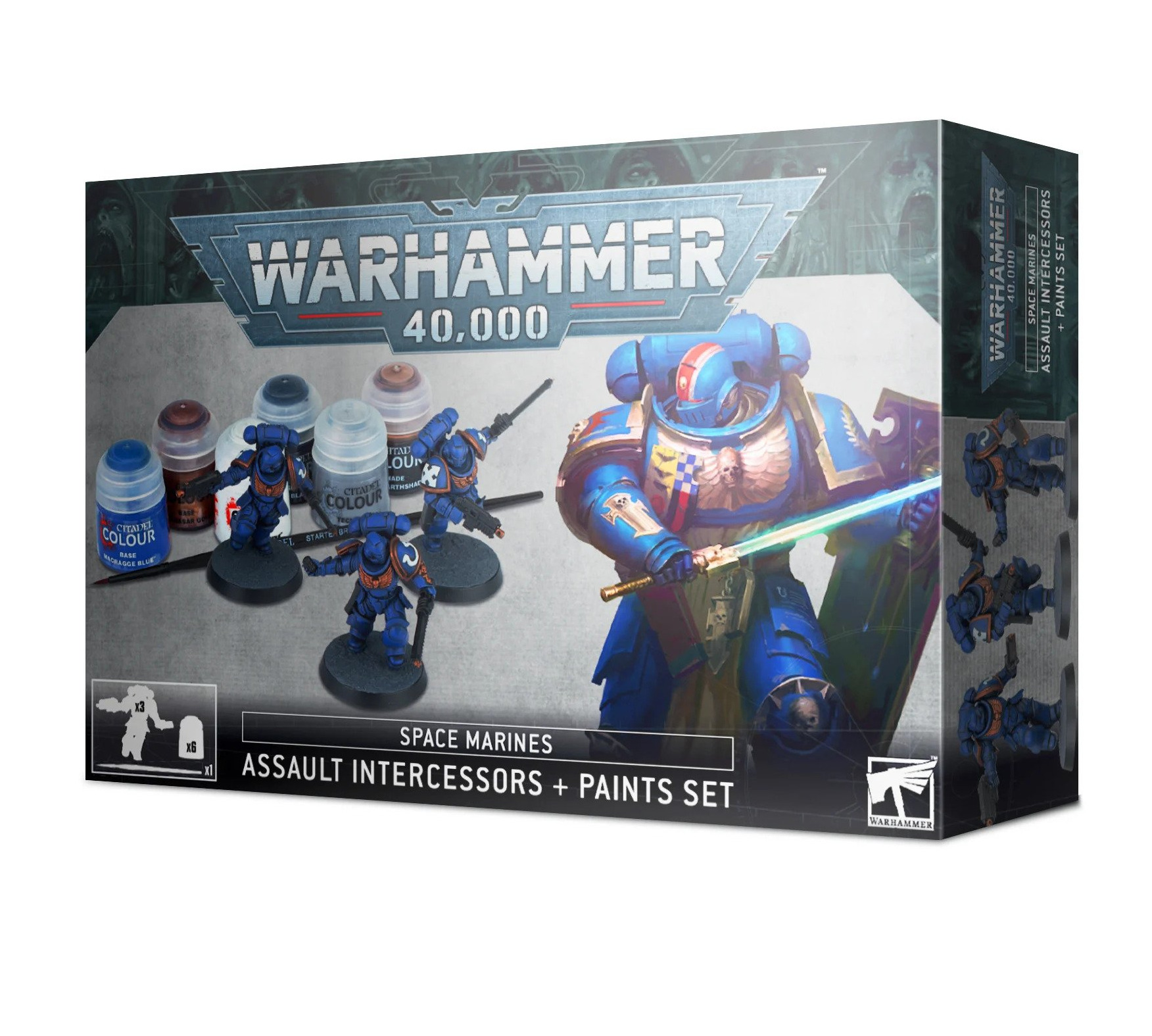 W40k: Space Marines: Assault Intercessors Paint Set