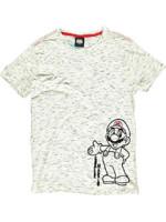 Tričko Super Mario - Space Dye (veľkosť L)