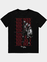 Tričko Demon's Souls - You Died Knight (veľkosť XL)