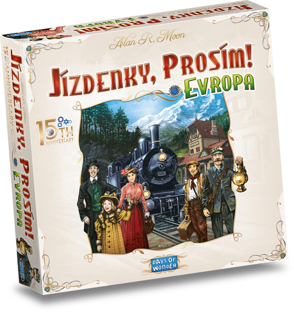 Stolová hra Jízdenky, prosím! Evropa - 15th Anniversary