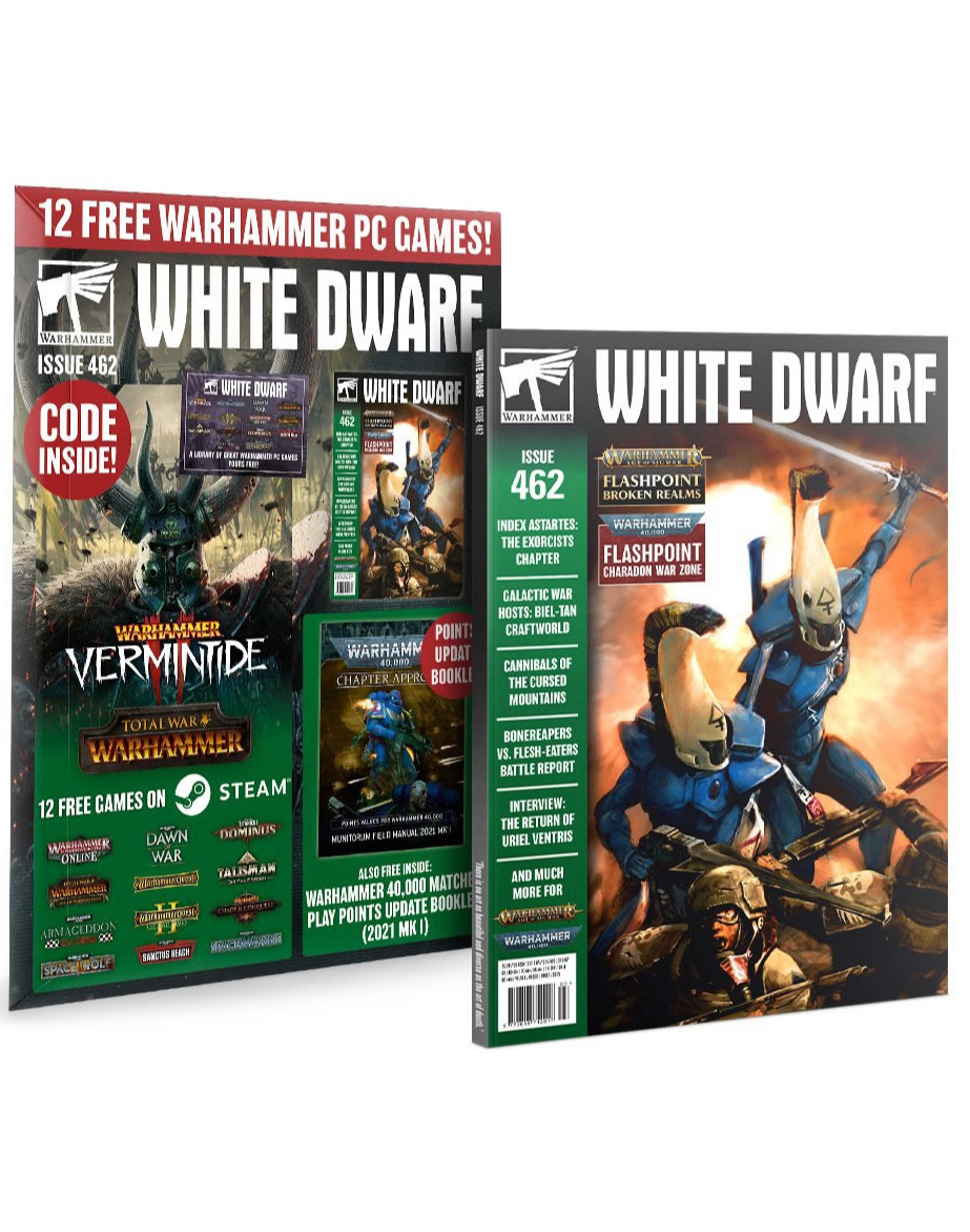 Časopis White Dwarf 2021/03 (Issue 462) + Darček+ 12 PC hier zdarma