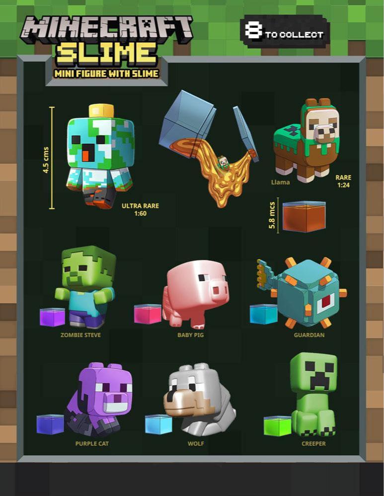 Figúrka Minecraft - Slime (náhodný výber)