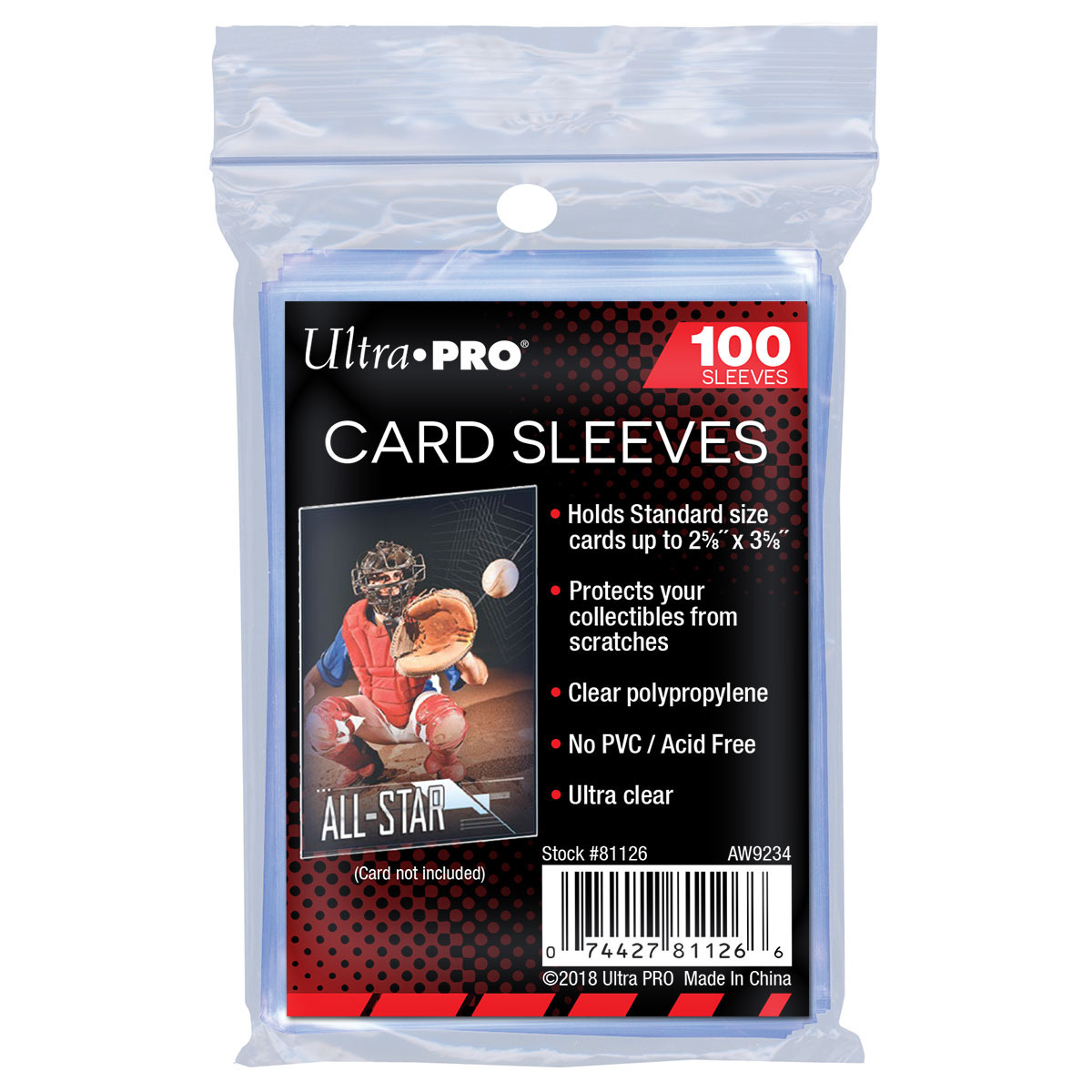 Ochranné obaly na karty Ultra Pro - Standard Sleeves Regular Soft (100)