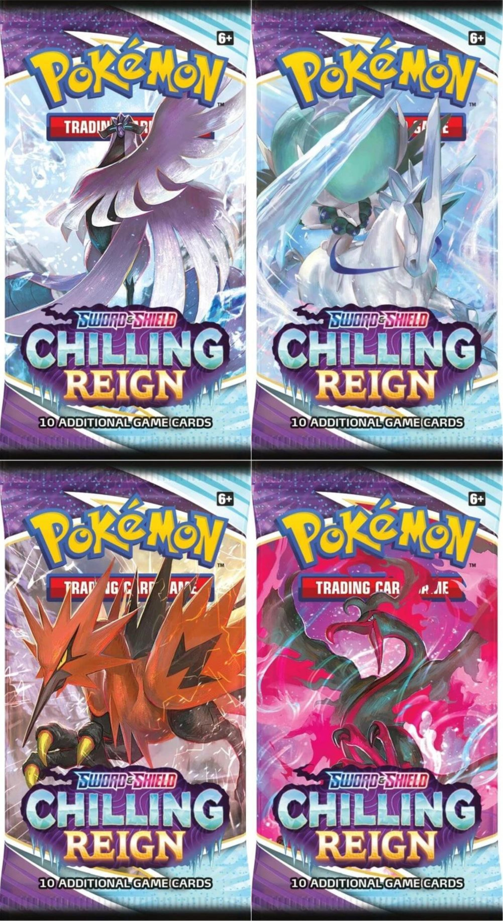 Kartová hra Pokémon TCG: Sword & Shield Chilling Reign - booster (10 kariet)