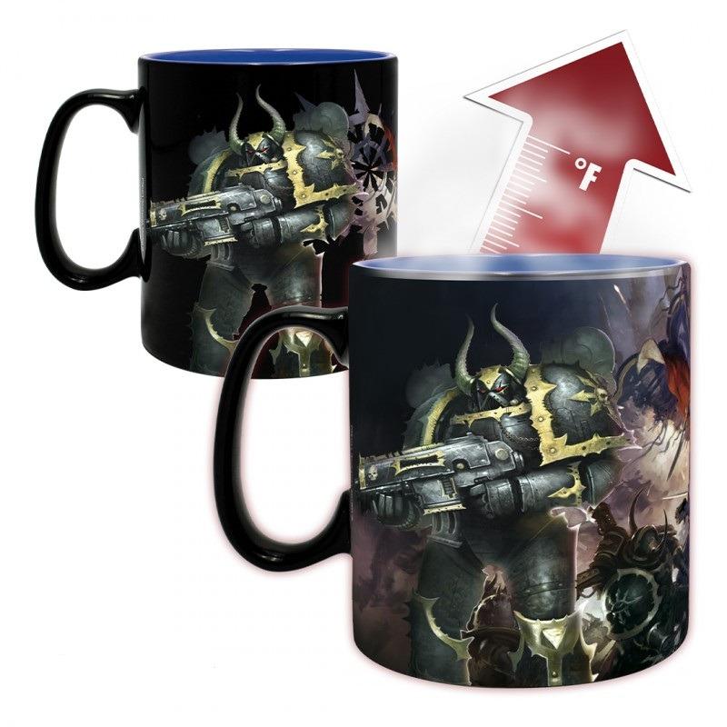 Hrnček Warhammer 40.000 - Ultramarine & Black Legion (meniaci sa)
