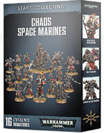 W40k: Start Collecting Chaos Space Marines (16 figúrok)
