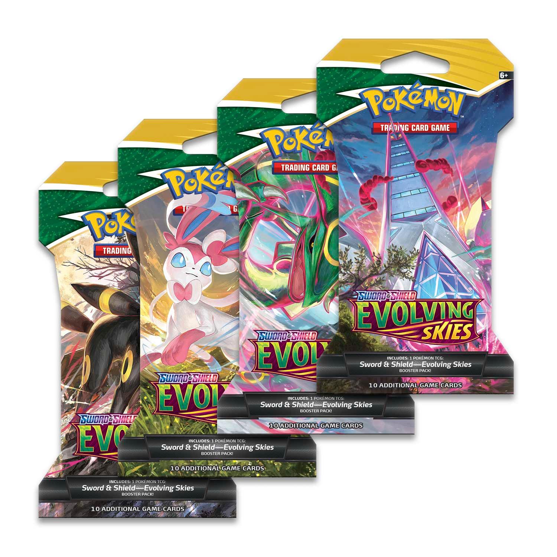 Kartová hra Pokémon TCG: Sword & Shield Evolving Skies - Sleeved Booster (10 kariet)