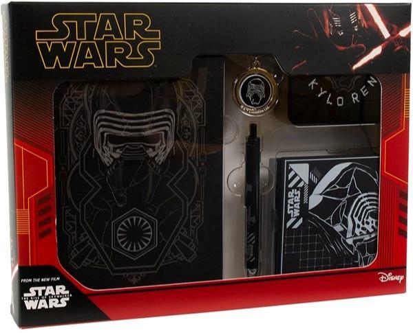 Darčekový set Star Wars - Kylo Ren (ponožky, pero, zápisník, kľúčenka, podtácky)