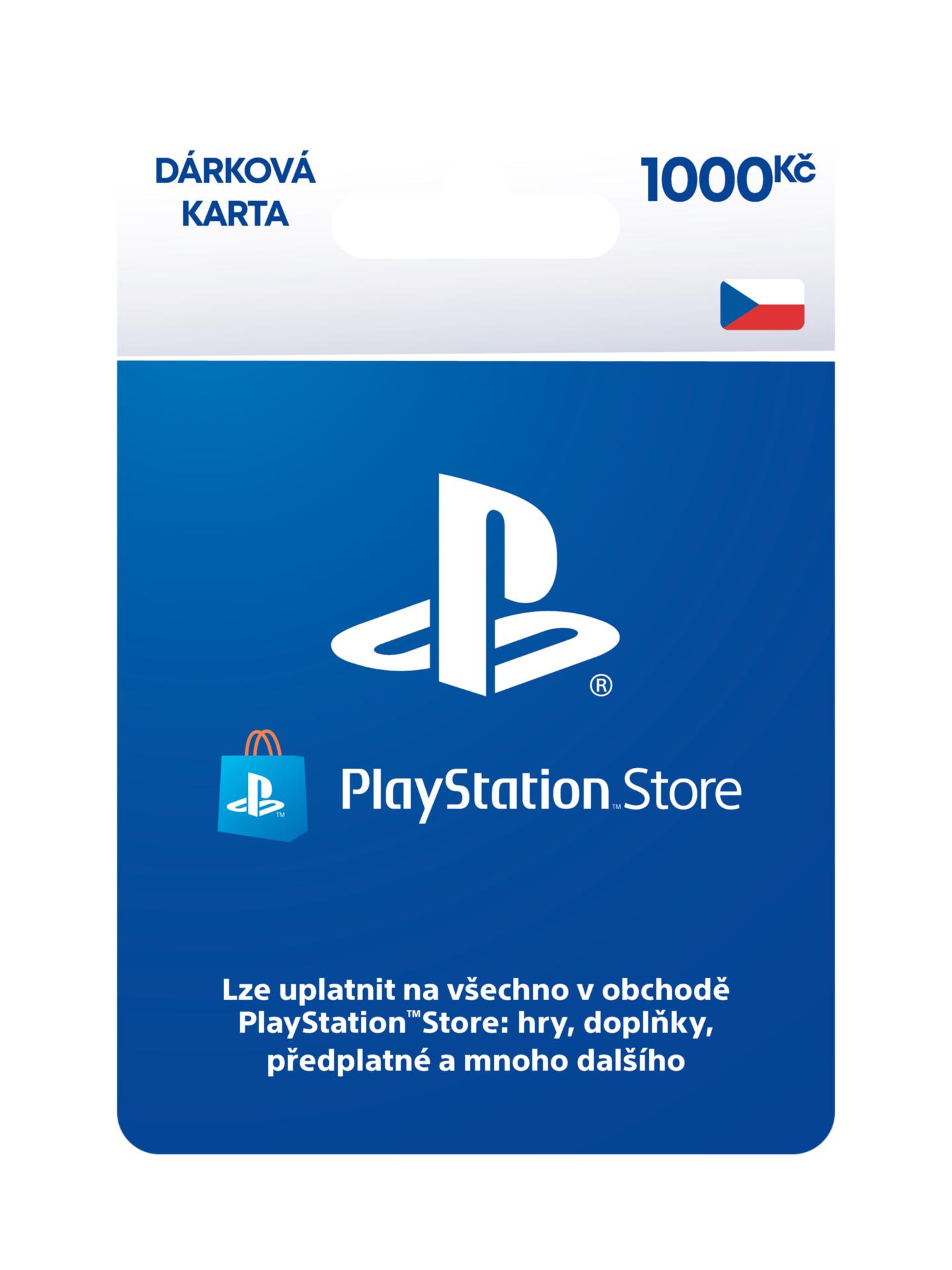 PLAYSTATION STORE – Darčeková karta 1000 Kč (PS4)