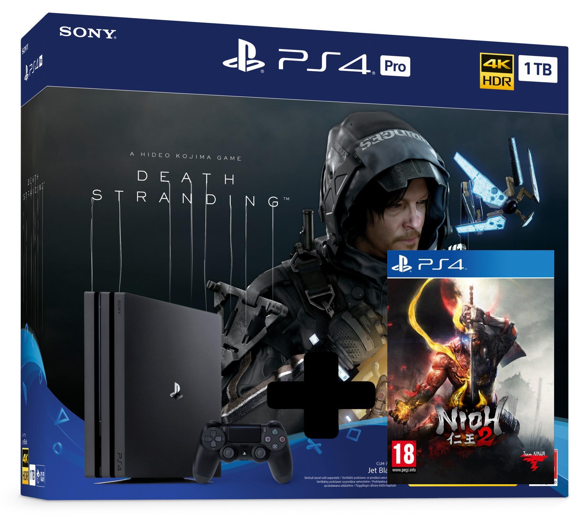 Konzola PlayStation 4 Pro 1TB + Death Stranding + Nioh 2 (PS4)