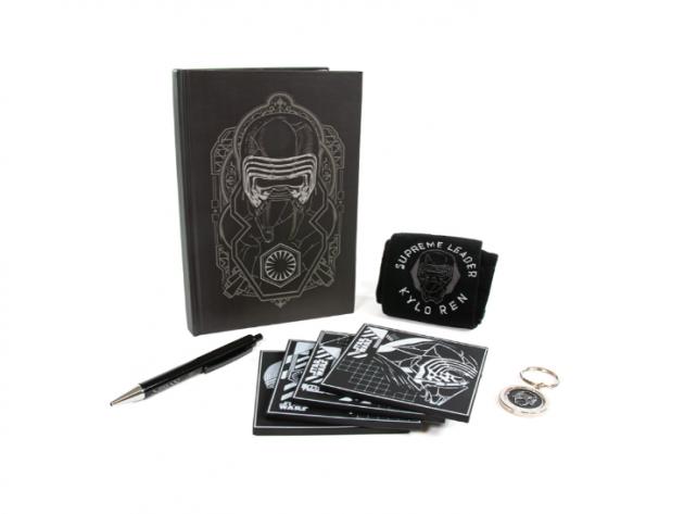 Dárkový set Star Wars - Kylo Ren (ponožky, propiska, zápisník, klíčenka, podtácky)