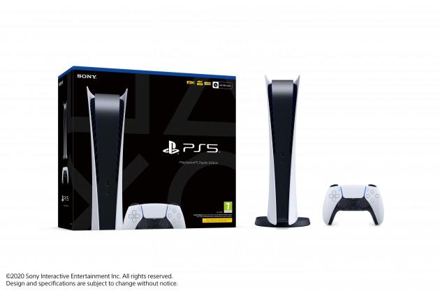Konzole PlayStation 5 825 GB - Bílá (Digital Edition)